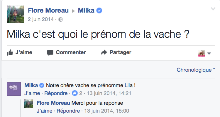 FB milka
