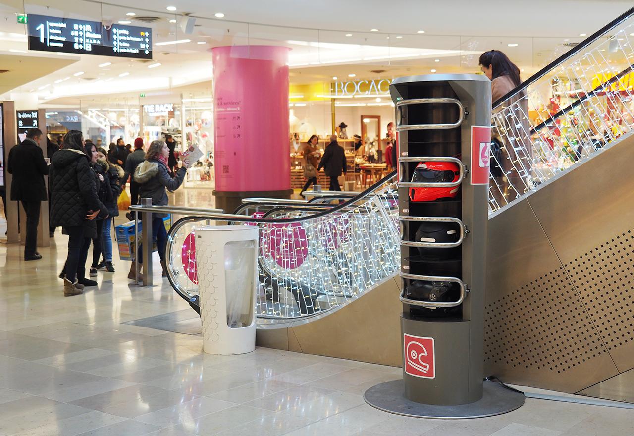Consigne dans les centres commerciaux