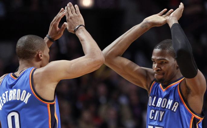 NBA Kevin Durant et Russell Westbrook