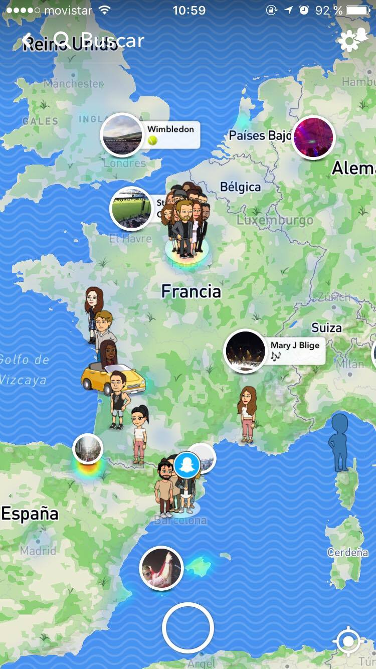 Localisation amis snapchat