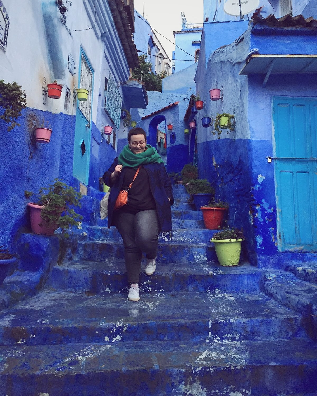 Voyage au maroc dans la ville bleue