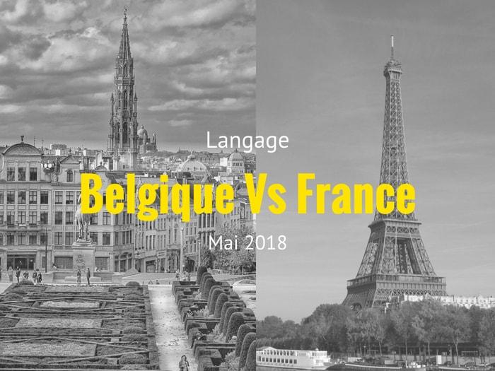 les differences du langage belge et lu langage francais